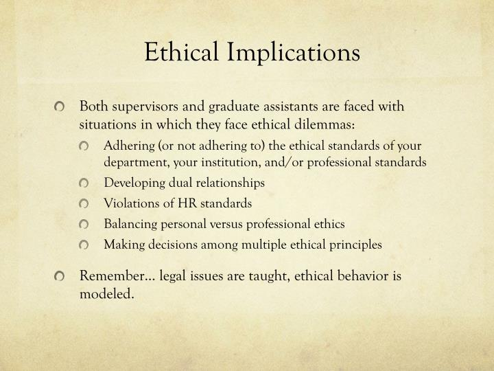 Ethical Implications