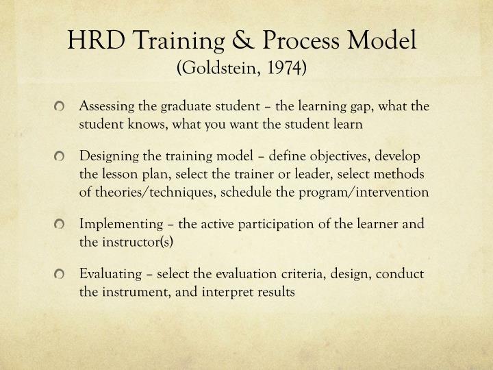 HRD Training & Process Model