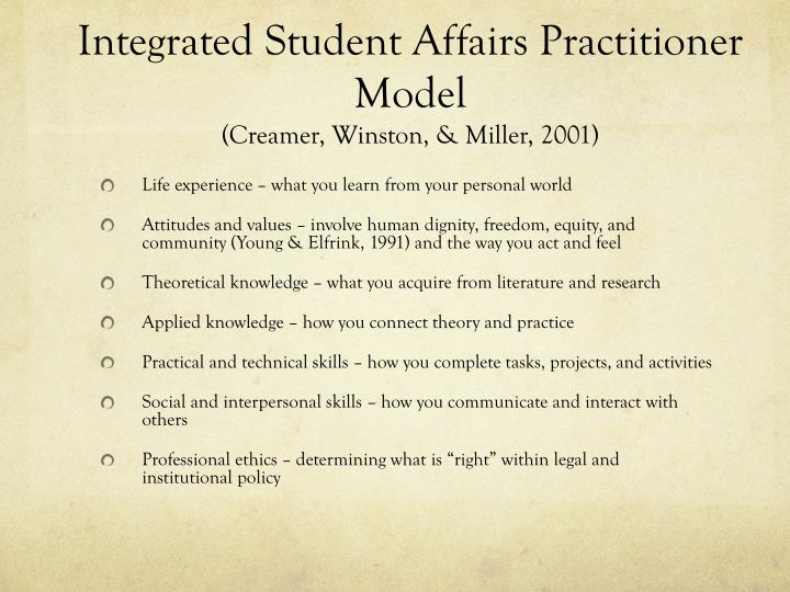 Integrated Student Affairs Practitioner Model