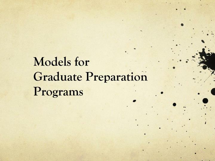 Models for