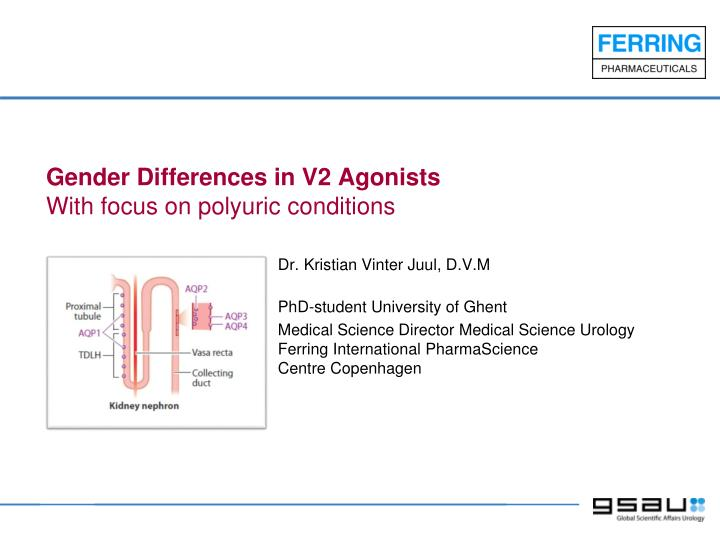Gender differences in v2 agonists with focus on polyuric conditions