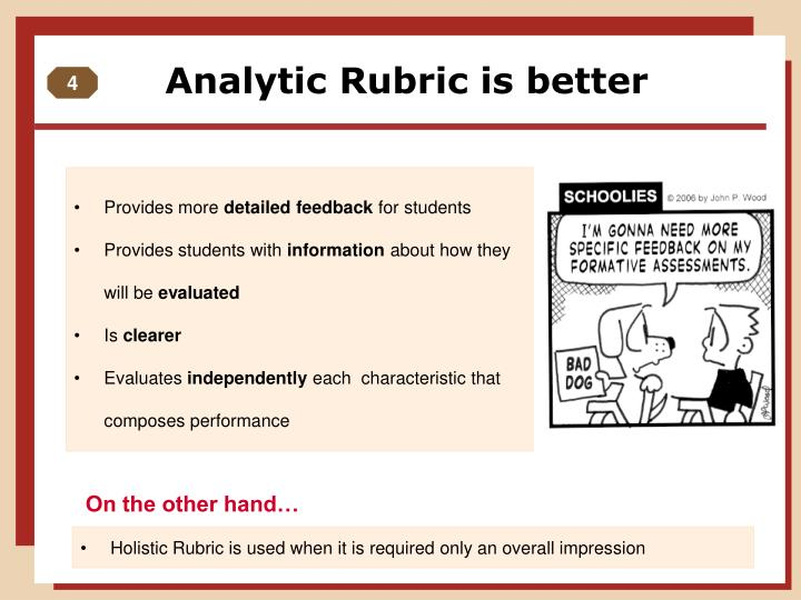 Analytic Rubric is better