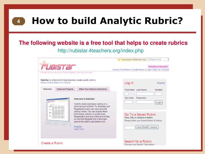 How to build Analytic Rubric?