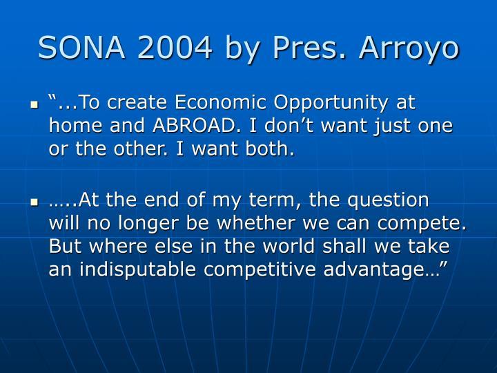 SONA 2004 by Pres. Arroyo