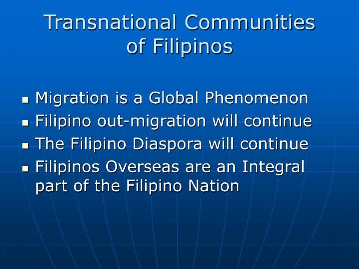 Transnational Communities