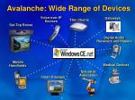 avalanche wide range of devices