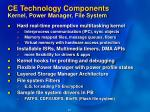 ce technology components kernel power manager file system