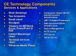ce technology components services applications