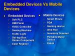 embedded devices vs mobile devices