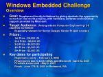 windows embedded challenge overview