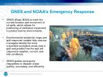 gnss and noaa s emergency response