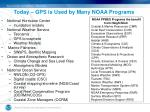 today gps is used by many noaa programs