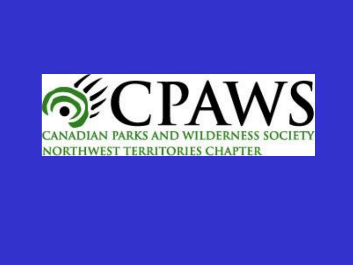 Dehcho working draft land use map terms and policy recommendations comments from cpaws nwt