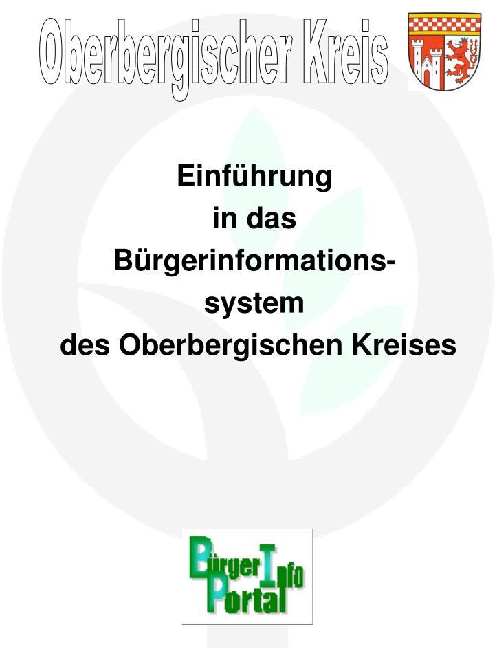 einf hrung in das b rgerinformations system des oberbergischen kreises n.
