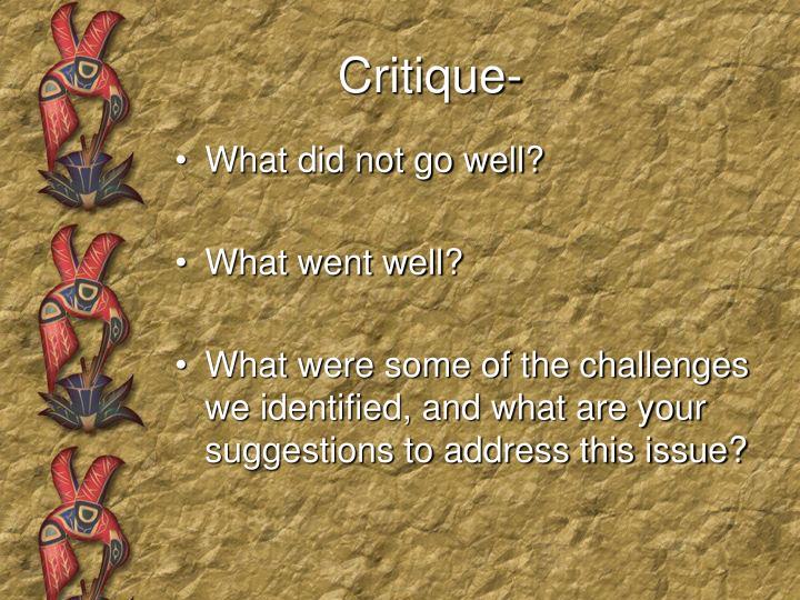 Critique-