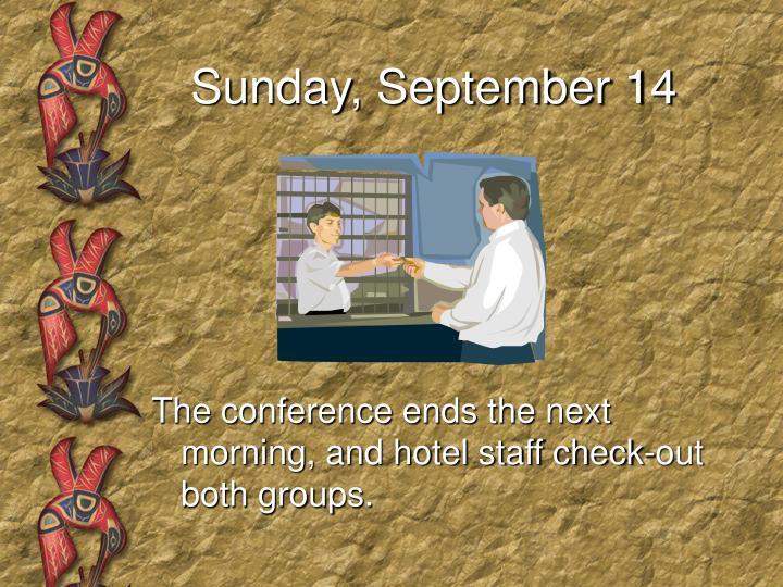 Sunday, September 14
