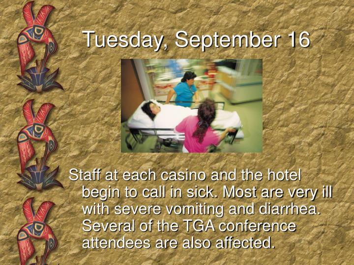 Tuesday, September 16
