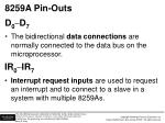 8259a pin outs