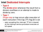 intel dedicated interrupts