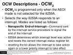 ocw descriptions ocw 2