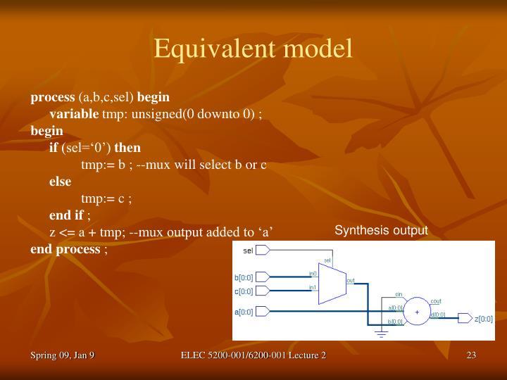 Equivalent model