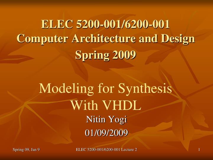 ELEC 5200-001/6200-001