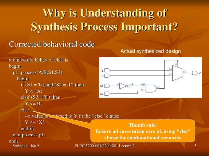 Why is Understanding of