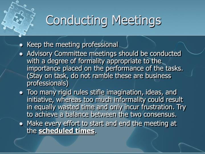 Conducting Meetings