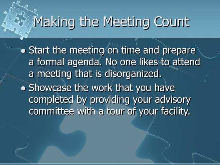 Making the Meeting Count
