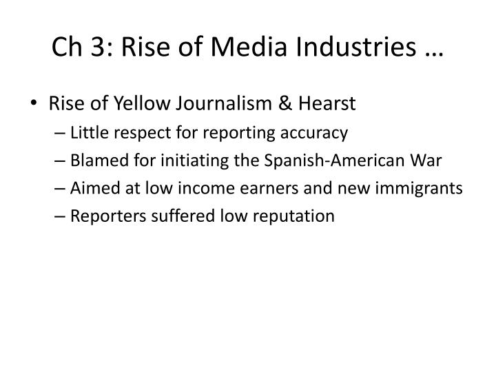 Ch 3 rise of media industries1
