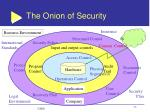 the onion of security