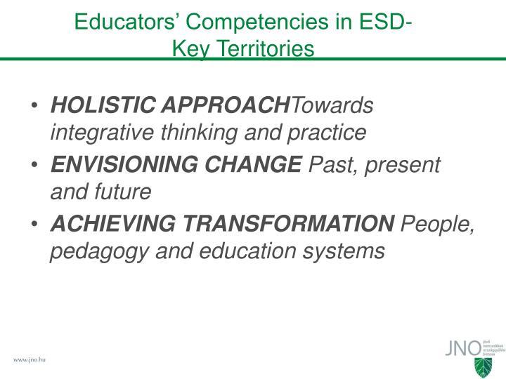 Educators' Competencies in ESD-