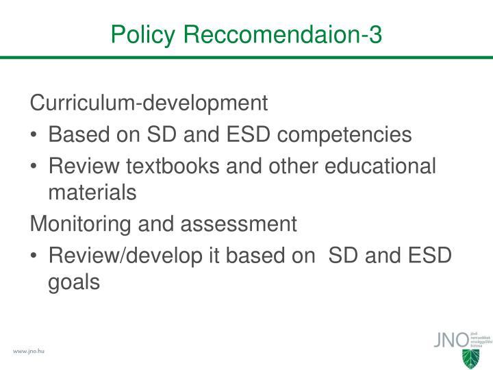 Policy Reccomendaion-3
