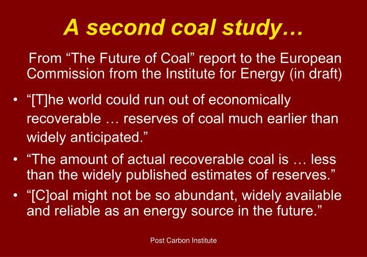 A second coal study…
