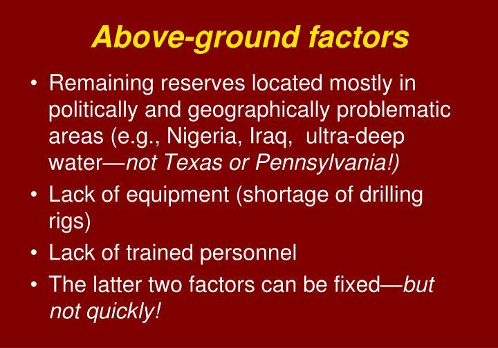 Above-ground factors