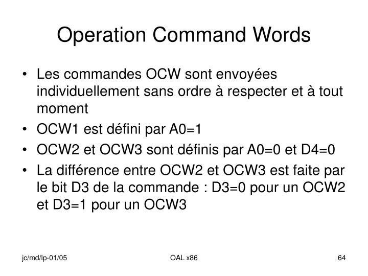 Operation Command Words
