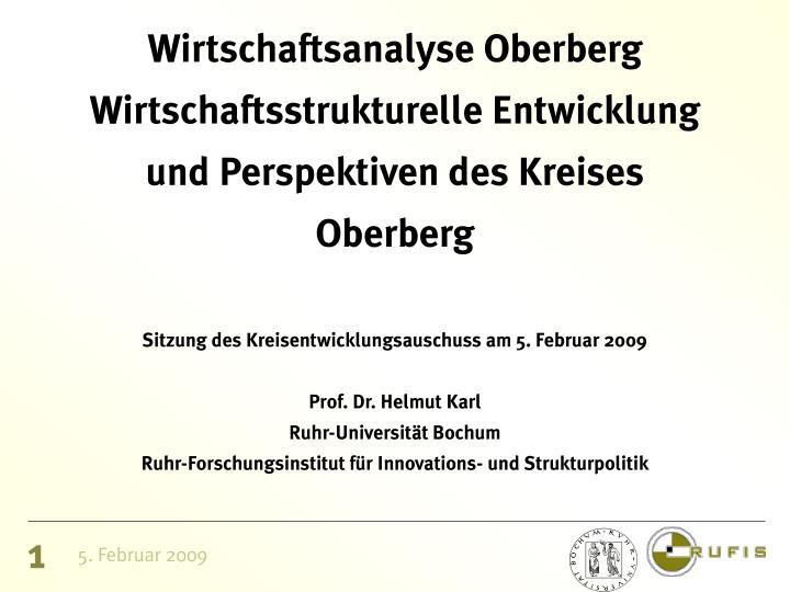 Wirtschaftsanalyse Oberberg