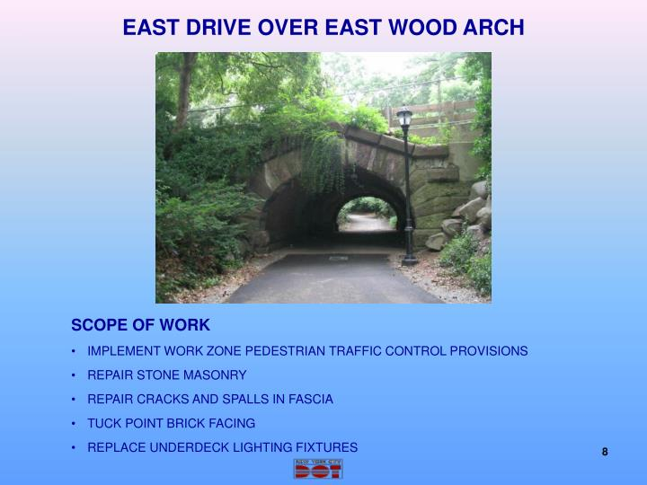 EAST DRIVE OVER EAST WOOD ARCH