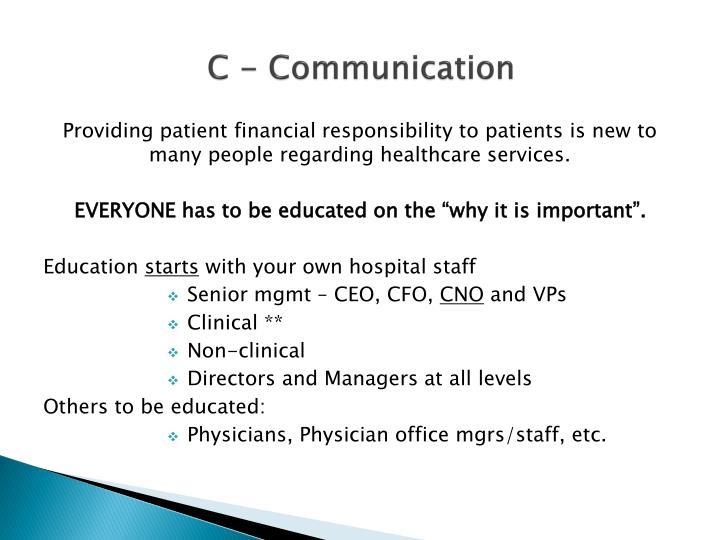 C - Communication