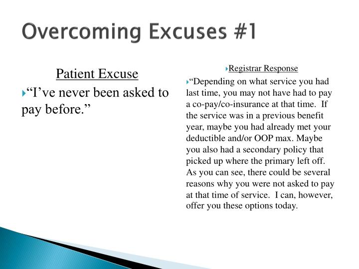 Overcoming Excuses #1