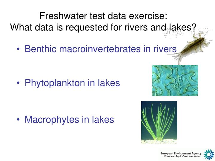 Freshwater test data exercise: