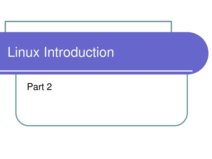 linux introduction n.