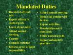 mandated duties