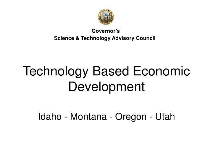 technology based economic development n.