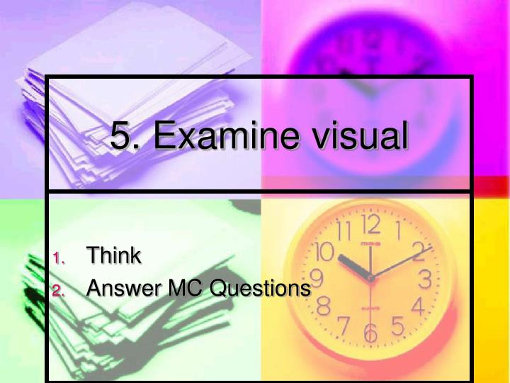 5. Examine visual