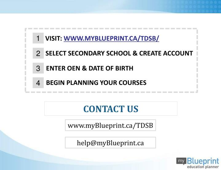 Ppt myblueprint course selection guide powerpoint presentation myblueprinttdsb malvernweather Images