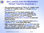 m 21 and 21 from the modulation period t and the amplitude a