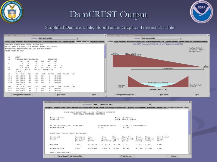 DamCREST Output