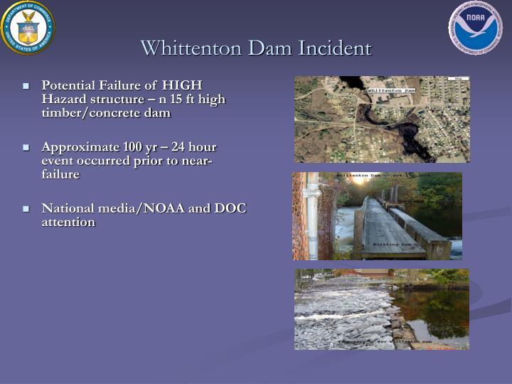Whittenton Dam Incident