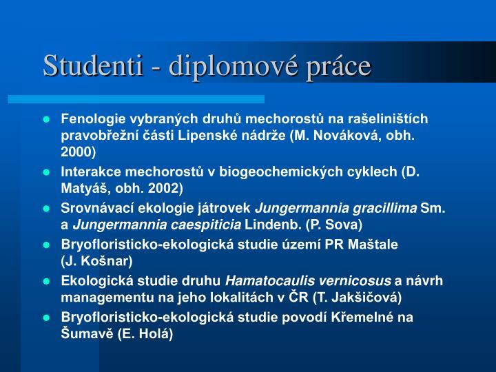 Studenti - diplomové práce